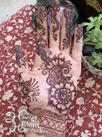 Henna Palm Stain after 24 hours