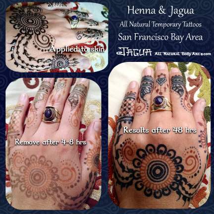 hengua henna jagua application removal stain results